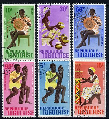 Togo 1966 Arts & Crafts set of 6 cto used, SG 469-74