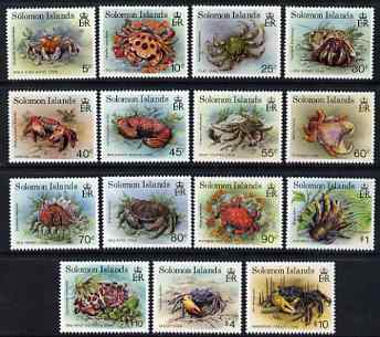 Solomon Islands 1993 Crabs definitive set of 15 values complete unmounted mint, SG 752-66