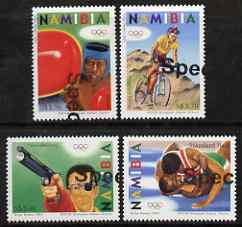 Namibia 2004 Athens Olympic Games perf set of 4 with part SPECIMEN overprint (opt goes across 2 stamps) unmounted mint, as SG 978-81