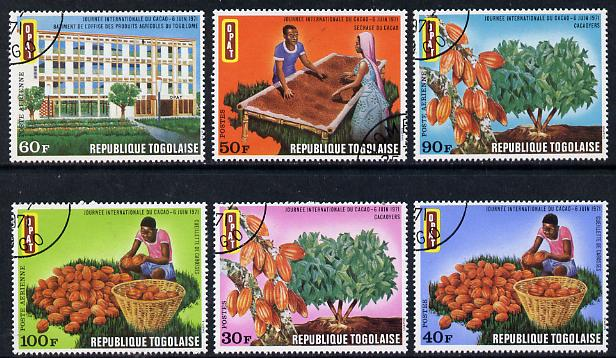 Togo 1971 Int Cocoa Day set of 6 cto used, SG 811-16*