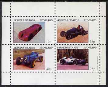 Bernera 1981 Early Racing Cars perf set of 4 values (imprint in right margin) unmounted mint