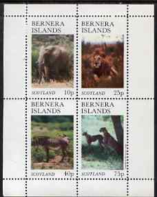 Bernera 1981 Animals (Elephant, Lion, Zebra) perf set of 4 values (imprint within main stamp design) unmounted mint