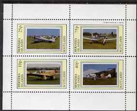Bernera 1983 Aircraft #15 perf  set of 4 values (10p to 75p) unmounted mint