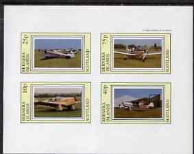 Bernera 1983 Aircraft #15 imperf  set of 4 values (10p to 75p) unmounted mint