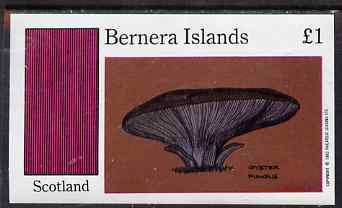 Bernera 1983 Fungi (Oyster Fungus) imperf souvenir sheet (�1 value) unmounted mint