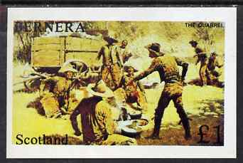 Bernera 1981? Wild West imperf souvenir sheet (�1 value - The Quarrel) unmounted mint