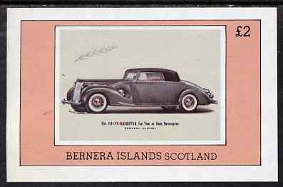 Bernera 1980 Vintage Cars imperf deluxe sheet (�2 value) unmounted mint