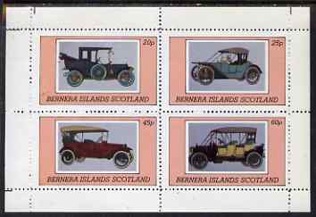 Bernera 1980 Vintage Cars perf set of 4 values (20p to 60p) unmounted mint