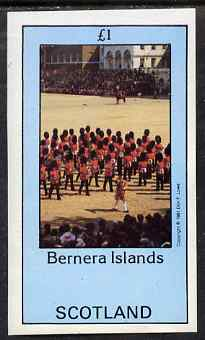 Bernera 1981 Soldiers (Marching Band) imperf souvenir sheet (�1 value) unmounted mint