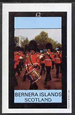 Bernera 1981 Soldiers (Marching Band) imperf deluxe sheet (�2 value) unmounted mint