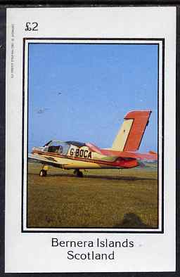 Bernera 1983 Light Aircraft imperf deluxe sheet (�2 value) unmounted mint