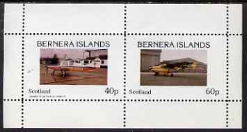 Bernera 1983 Light Aircraft perf set of 2 values (40p & 60p) unmounted mint, stamps on aviation