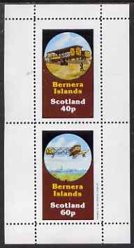 Bernera 1983 Early Aircraft perf set of 2 values (40p & 60p) unmounted mint
