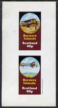 Bernera 1983 Early Aircraft imperf set of 2 values (40p & 60p) unmounted mint