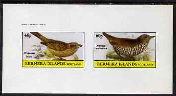 Bernera 1982 Birds #49 imperf set of 2 values unmounted mint