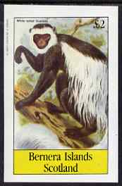 Bernera 1983 Primates (Guereza) imperf deluxe sheet (�2 value) unmounted mint