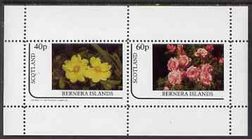 Bernera 1983 Roses perf set of 2 values unmounted mint