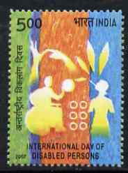 India 2007 International Day of Disabled Persons 5r unmounted mint