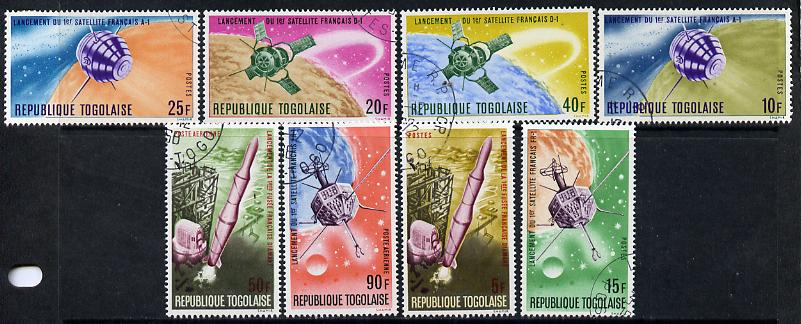 Togo 1967 French Space Achievements set of 8 cto used, SG 508-15