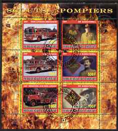 Djibouti 2007 Scouts & Fire Engines #1 perf sheetlet containing 6 values fine cto used