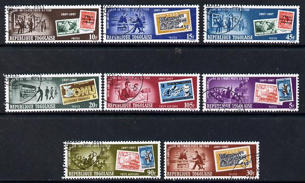 Togo 1967 Stamp Centenary perf set of 8 cto used, SG 553-60