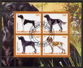 Djibouti 2008 Dogs #3 perf sheetlet containing 4 values fine cto used