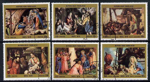 Togo 1970 Christmas (Nativity Paintings) set of 6 cto used, SG 778-83*