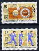 Germany - East 1970 World rienteeing Championships perf set of 2 unmounted mint SG E1326-7