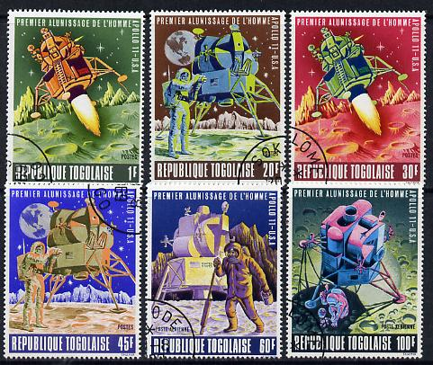 Togo 1969 First Man On The Moon set of 6 cto used, SG 644-49*