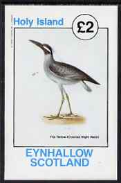Eynhallow 1982 Yellow-Crowned Night Heron imperf deluxe sheet (�2 value) unmounted mint