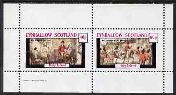 Eynhallow 1982 Sporting Traditions (Mr Bragg & Mr Sponge) perf set of 2 values unmounted mint