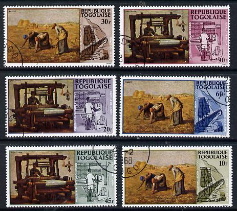 Togo 1968 Paintings of Local Industries set of 6 cto used, SG 577-82*