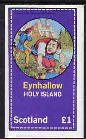 Eynhallow 1981 Fairy Tales (Jack the Giant Killer) imperf souvenir sheet (�1 value) unmounted mint