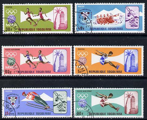 Togo 1967 Olympic Games set of 6 cto used, SG 563-68
