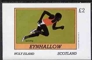 Eynhallow 1981 Sprinting imperf deluxe sheet (�2 value) unmounted mint
