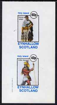 Eynhallow 1982 Costumes #04 (Woman from Jalapa & Dancing Indian) imperf set of 2 values unmounted mint