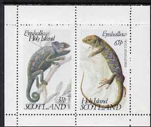 Eynhallow 1983 Lizards perf set of 2 values unmounted mint