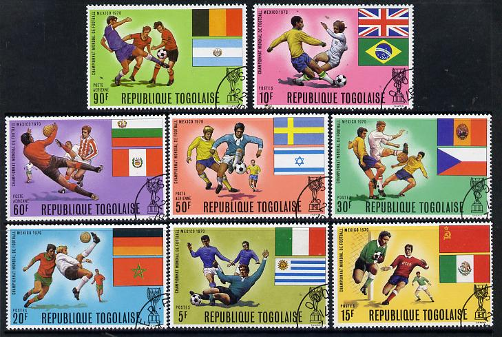 Togo 1970 Football World Cup set of 8 cto used, SG 733-40