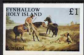 Eynhallow 1983 Wild West imperf souvenir sheet (�1 value - Last War Whoop) unmounted mint