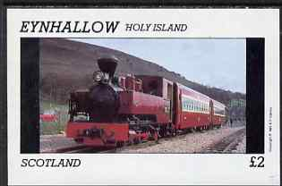 Eynhallow 1981 Steam Locos #01 imperf deluxe sheet (�2 value - Narrow Gauge Panier Tank) unmounted mint