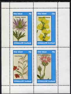 Eynhallow 1983 Flowers #33 perf set of 4 values unmounted mint