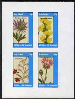 Eynhallow 1983 Flowers #33 imperf set of 4 values unmounted mint