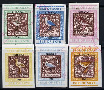 Isle of Soay 1965 Europa (Birds) imperf set of 6 cto used