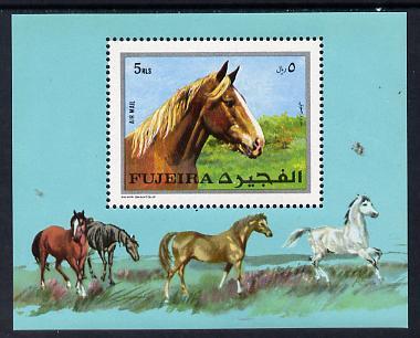 Fujeira 1970 Horses m/sheet unmounted mint (Mi BL 33A)