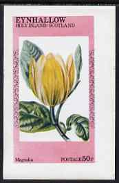 Eynhallow 1974 Flowers #1 - Magnolia imperf deluxe sheet (�2 value) unmounted mint