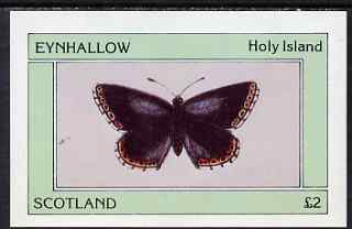 Eynhallow 1981 Butterflies imperf deluxe sheet (�2 value) unmounted mint