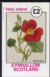 Eynhallow 1982 Flowers - Tropeolum (Nasturtium) imperf deluxe sheet (�2 value) unmounted mint
