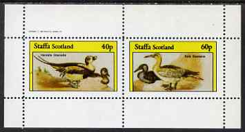 Staffa 1982 Water Birds #05 (Long-tailed Duck & Gannet) perf set of 2 values unmounted mint