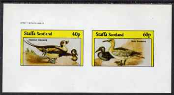 Staffa 1982 Water Birds #05 (Long-tailed Duck & Gannet) imperf set of 2 values unmounted mint
