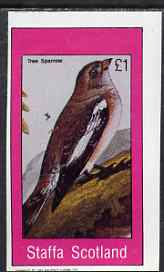 Staffa 1983 Tree Sparrow imperf souvenir sheet (�1 value) unmounted mint
